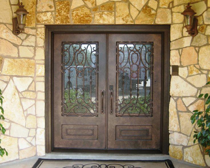 Wrought Iron Door Madrid Square Top Double & 49 best Wrought Iron Doors images on Pinterest | Wrought iron ... pezcame.com