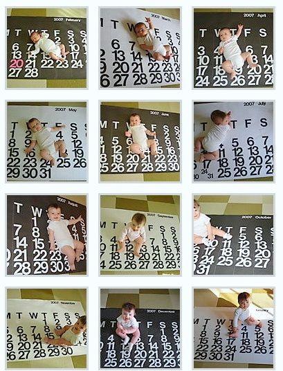 Baby Monthly Photos on Stendig Calendar brilliant