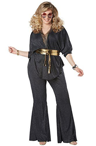 California Costumes Disco Dazzler Plus Size Adult Costume-. Sizes XL,2XL,3XL,4XL,5XL,12,14,16,18,20,22,24,26,28,32