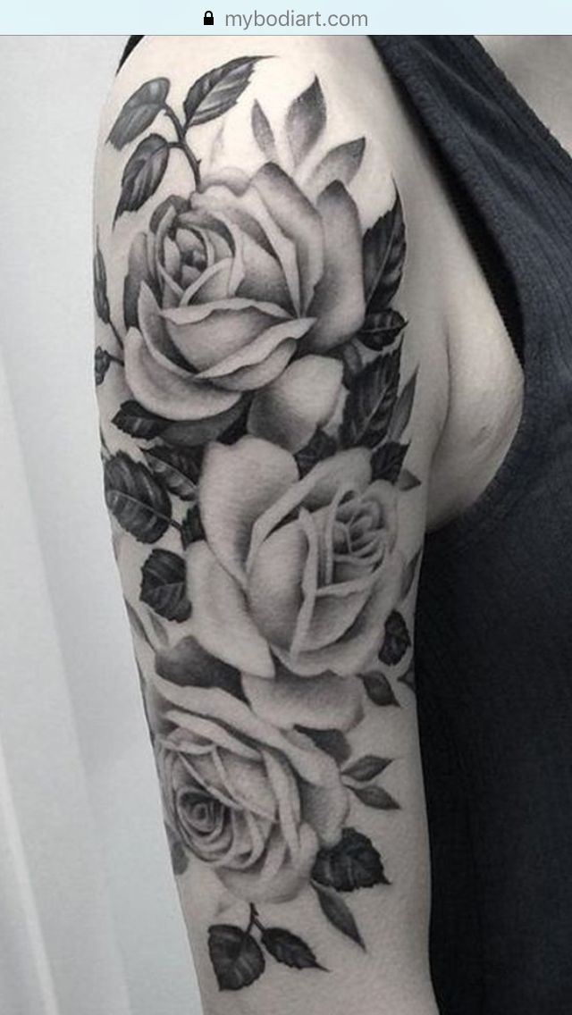 Beautiful roses tattoo on arm