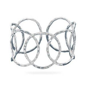 Genuine Elegante Hammered Open Circle Cuff. 100% Satisfaction Guaranteed. Elegante. $204.95