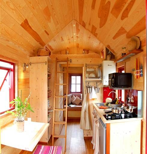 tiny houses a small wooden prefabricated home - Small Mobile Houses