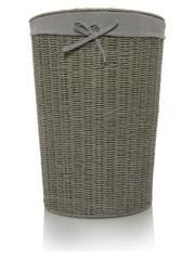 George Home Grey Rope Laundry Hamper