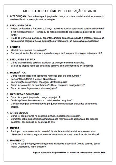 Click Educativo - Educação Infantil: EDUCAÇÃO INFANTIL: SUGESTÕES PARA PREENCHIMENTO DO RELATÓRIO INDIVIDUAL DO ALUNO 4º BIMESTRE 2016