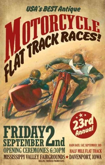 Motorcycle Flat Track Races