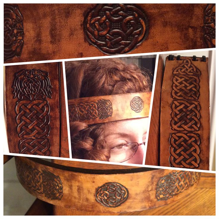 Celtic/Viking Leather Crown
