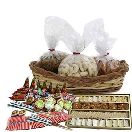 Check out our New Product  Diwali Cracker Combo No Flower COD Basket of Almonds 500gm, Cashewnuts 500gm and Raisins 500gm with 1kg Mix Sweets and Diwali Crackers worth Rs. 500/-  Rs.4,523