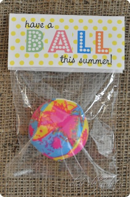 Have a Ball Tags for Classmate gifts