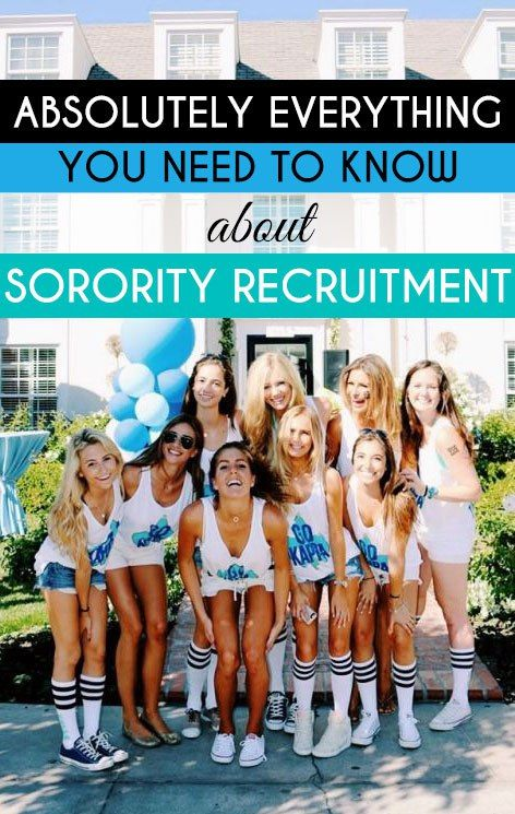 So much great information on sorority recruitment!!!