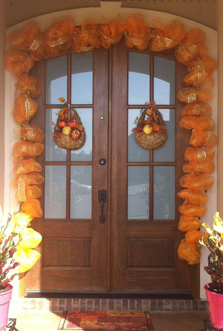 fall poly mesh garland - Deco Mesh Halloween Garland