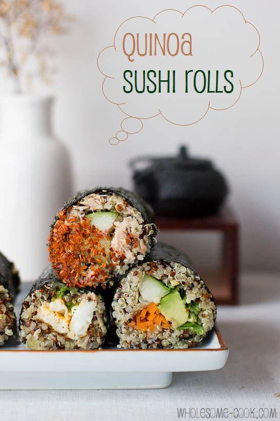Quinoa + sushi = ♥ ~ 20 recettes de Quinoa végétariennes.