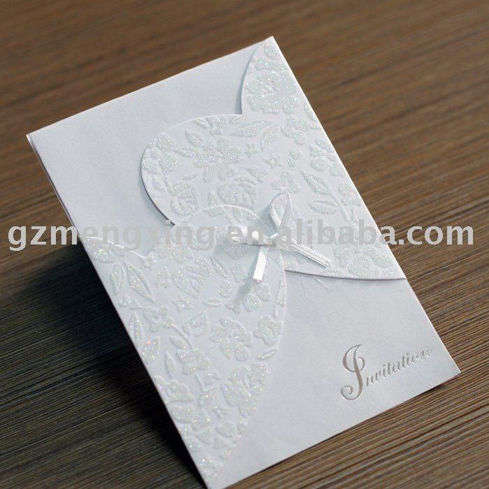 Atractivo de invitaciones de boda/tarjetas de boda/tarjetas de invitación/tarjeta de felicitación/decorar de la boda - - w026-Suministros Bo...