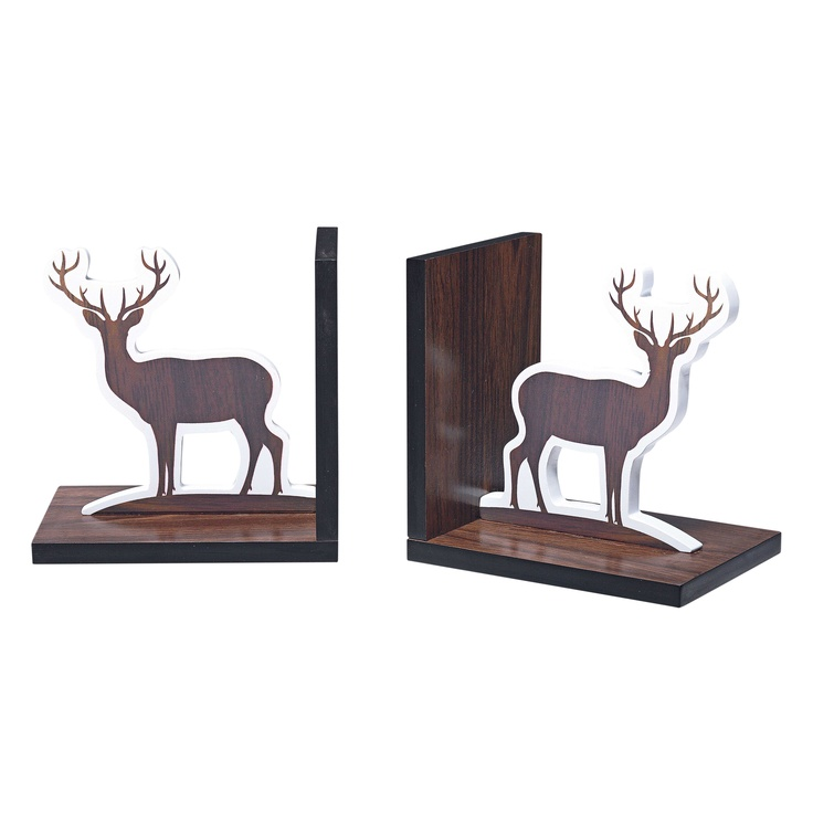 LOVE! I'm getting these!! :)    'Aspen' Reindeer Bookends from Domayne