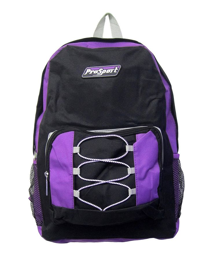 Take a look at this Purple Drawstring-Front Backpack today!