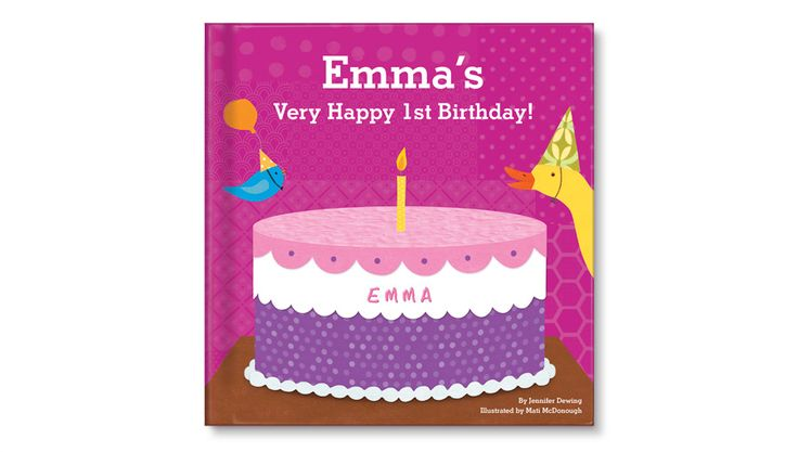 first birthday books | My Very Happy 1st Birthday personalized book for girls