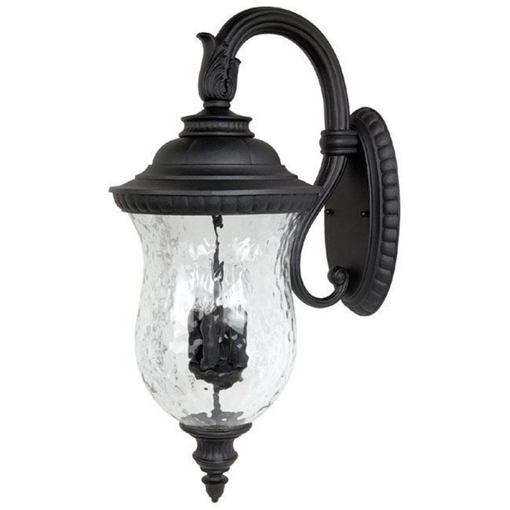 capital lighting 9784bk outdoor wall fixture with hammered glass shades black finish wall porch