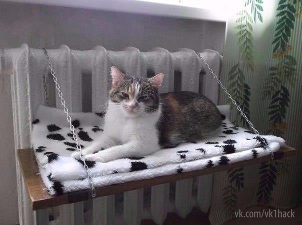 Теплая лежанка для кота