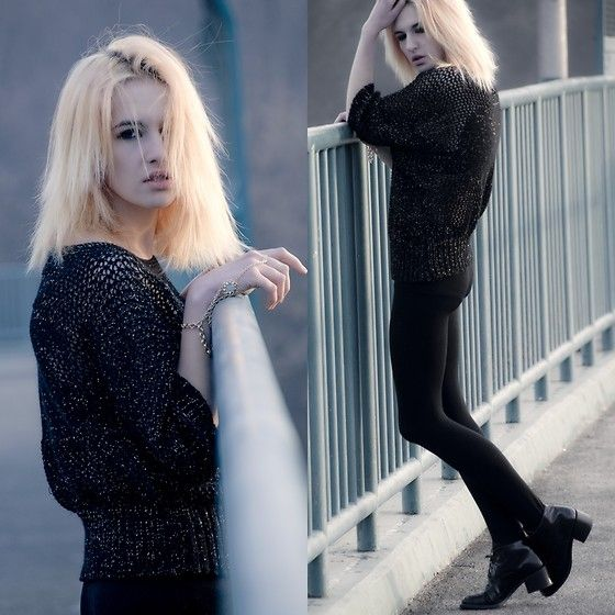 † † † up † † † CHANEL h&m fashion style grunge girl polishgirl cracow karusza