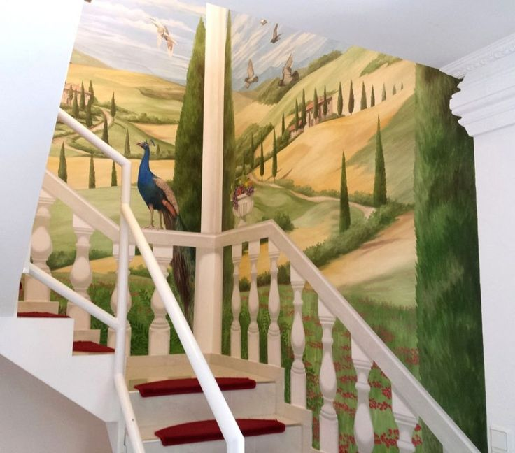 Ideen : Schönes Wandbemalung Modern Kinderzimmer Demtigend Auf