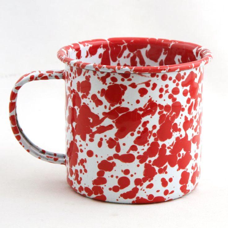 Red Speckle Enamel Mug