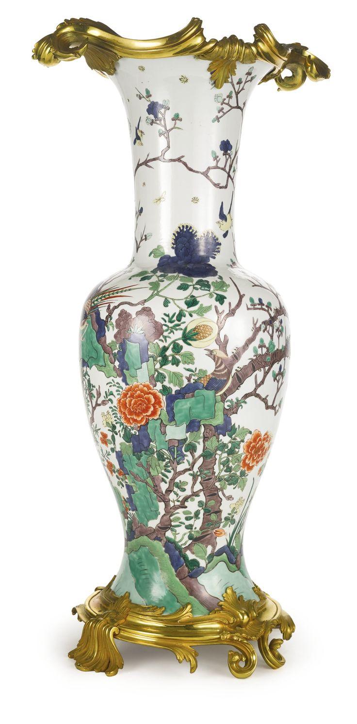 A Louis XV style ormolu-mounted Samson famille verte style porcelain vase late 19th century | Lot | Sotheby's