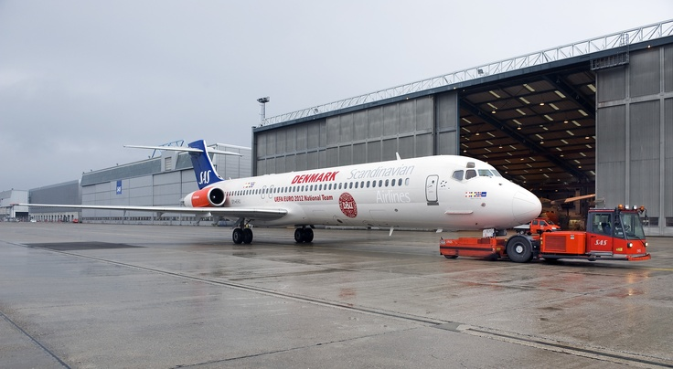 McDonnell Douglas MD80 chartered by the Danish Football Union to fly the Danish team to the UEFA championship in Ukraine  Poland, June 2012