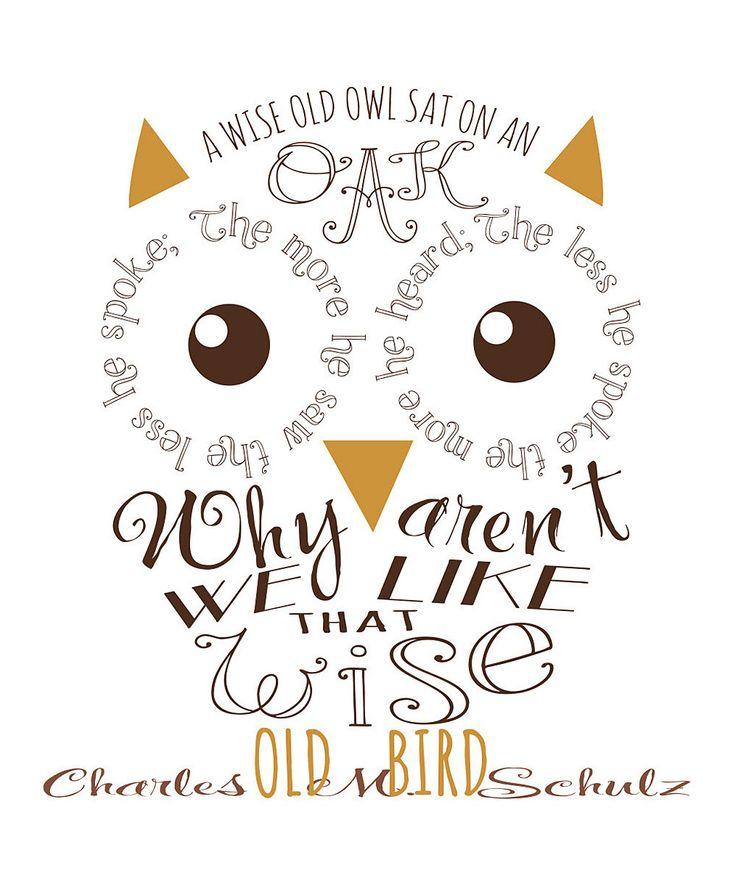 Owl Shadow Box Wall Art