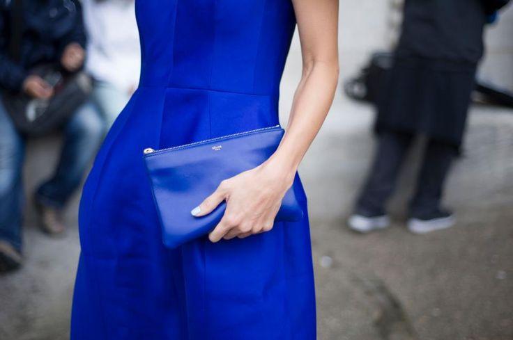 """""""Céline blue"""" from Vogue Paris' Facebook page #electric blue"""