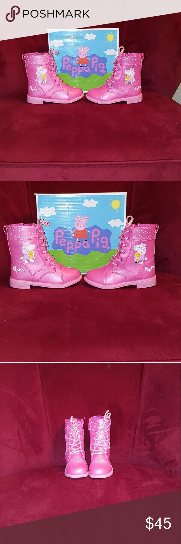Peppa Pig boots for girl size 10 Peppa Pig boots for girl size 10, new with a tag. Peppa Pig Shoes Boots