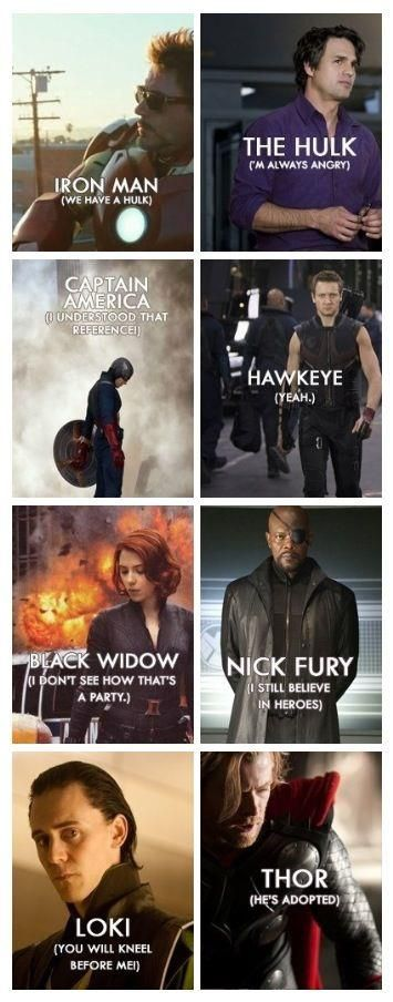 Great Avengers Quotes--should have used Budapest for Hawkeye.