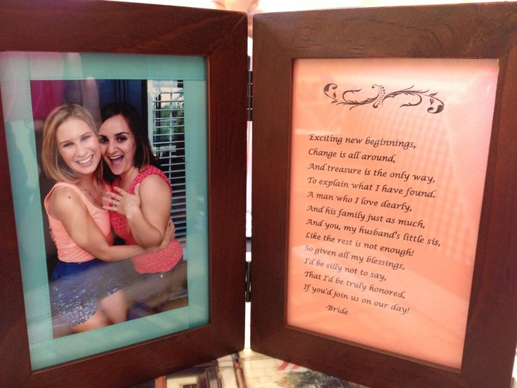 Wedding Gift Ideas For Future Sister In Law : ... gifts mother in law sister in law quotes groomsman gifts bridesmaid