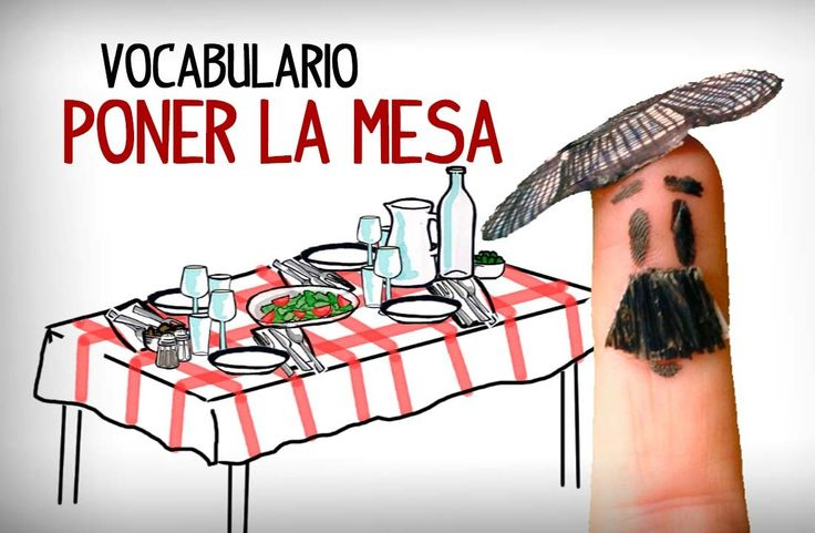 Set the table in Spanish, table setting vocabulary