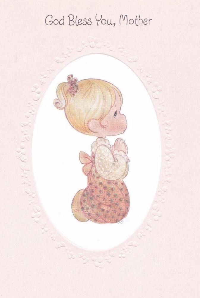 Hallmark Precious Moments Christian Birthday Card, God Bless You, Mother #HallmarkPreciousMoments #Birthday