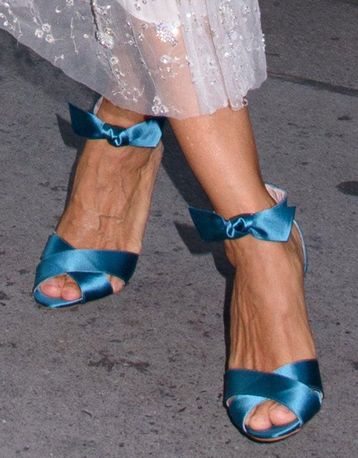 Sarah Jessica Parker in SJP Spring 2017 sandals