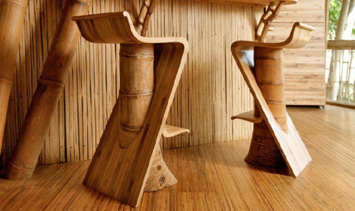 Bambusmöbel - Barhocker