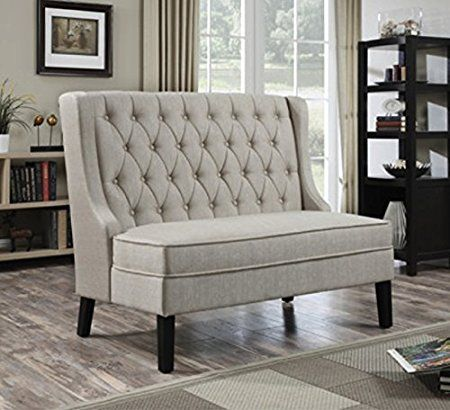 Amazon.com: Modern Banquette Bench Seating With High Back Banquettes  Upholstered For Kitchen Dining