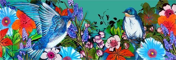 Hair Salon Interior mural. Artwork from Flox. See more at http://watermarkltd.com/