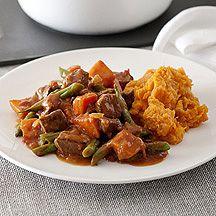 Vlees met puree en boontjes