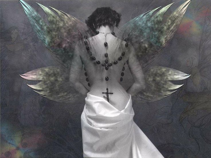 angel+fairy+with+rosary | Black Rosary Angel MySpace Layouts, Backgrounds Black Rosary Angel ...
