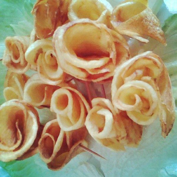 Rose di patatine fritte Gioie fatte in casa