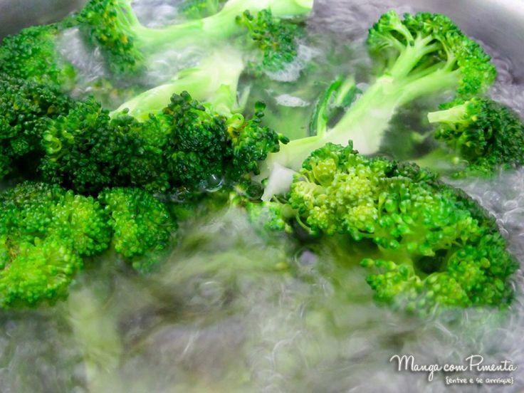 Brócolis: como cozinhar e congelar! Clique na imagem para ver essa dica na postagem do Manga com Pimenta.