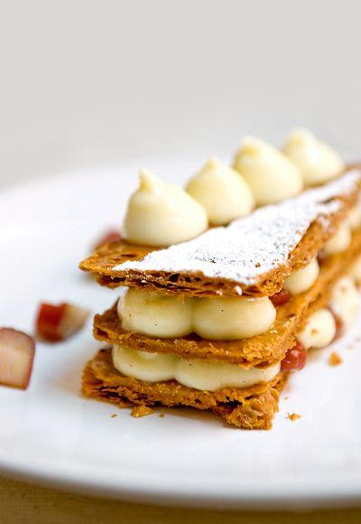 Vanilla Rhubarb Mille-Feuille | Yummy Workshop