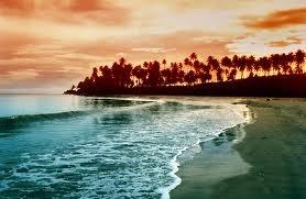 nias island, sumatra, Indonesia. great view of the beach