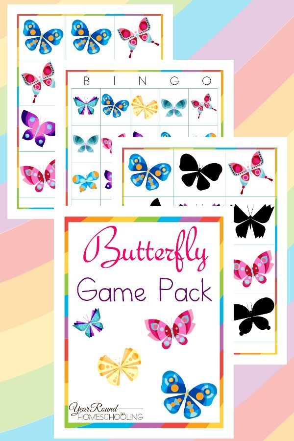Butterfly Game Pack - By Year Round Homeschooling