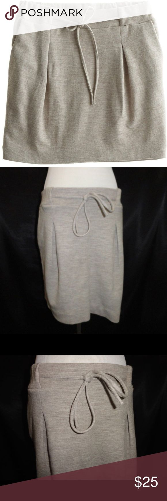 Calypso egg pleat gray wool miniskirt NWOT Great for cooler weather, would look fantastic with tights and tall boots or booties. Calypso St. Barth Skirts Mini