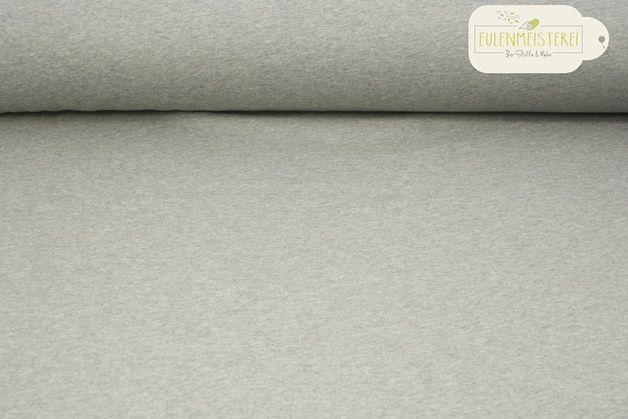 Bio-Stoffe - Bio-Sweat Lebenskleidung gerauht grau meliert dunk - ein Designerstück von Eulenmeisterei-Biostoffe bei DaWanda