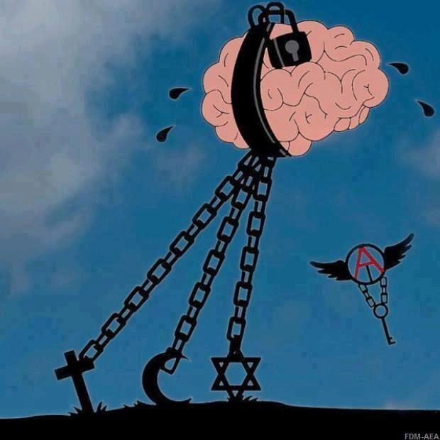 Catholicism, Islamism, Judaism, Religion, Church, Freedom, Liberty, Independence - Activismo / Activism: Invitations, Symbols, Cartoon, Atheism, Chains, Truths, Blog, Brain, Cool Tattoo