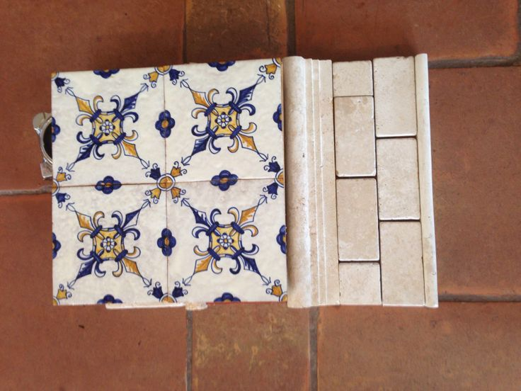 Hand Painted Tile With Tumbled Marble Kitchen Ideas