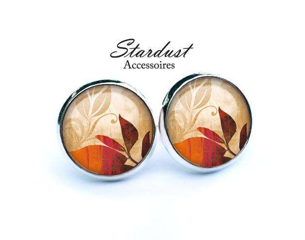 Ohrstecker silber ✿ Herbstblätter VI ✿ von Stardust Accessoires auf DaWanda.com