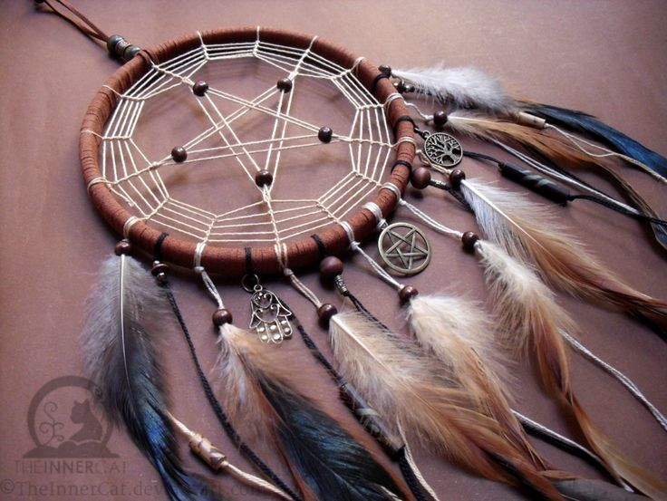 TheInnerCat's Pentacle Dream Catcher Symbols included: Pentacle, Hamsa and Tree of Life. Please do not use the picture without our permission. By T.I.C. Member: Rei ..::WEBSITES::.. -TheInnerCat Of...